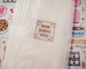 Home Baked Love glassine bags, cookies, baked goods, candy buffet bags, set of 20