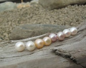 FREE SHIPPING Ivory, Peach, Lilac and White 8mm Pearl Studs Sterling Silver Posts