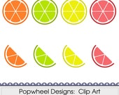 Citrus Slices -- Digital Clip Art Pack -- Printable -- Personal and Commercial Use