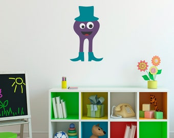 Monster Wall Decal 6 - Monster Wall Art - Children Bedroom Decals