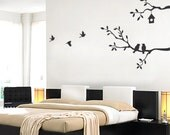 Cute Birds and Branches Decal - Vinyl Wall Sticker - LAR