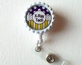 X-Ray Tech - ID Badge Holder - ID Badge Reel - Name Tag Badge - Badge Reel - Xray Badge Clip - Cute Badge Reel - Name Badge Holder