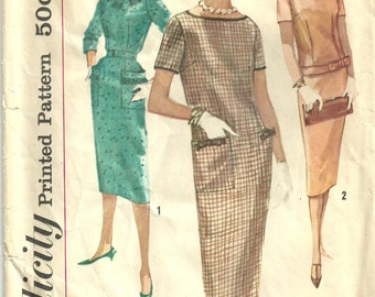 Simplicity 2618 / Vintage 50s Sewing Pattern / Dress / Size 11