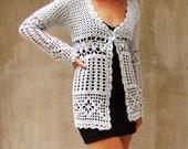 Crochet sweater, Elegant, Lace, Cardigan, Rustic, Urban eco,