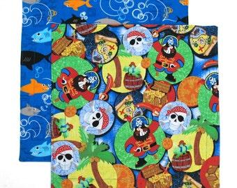 Cloth Napkins, Kids Reusable Fabric Napkins, Child School Lunch Box Napkins, Set of 2