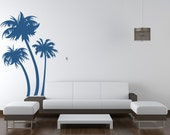 Palm Tree Wall Decal, Tree Wall Decal, Beach Decor, Beach Wall Art, Beach Wedding Decor, Beach Wall Decal, Tropical Wall Decal, Tropical Art