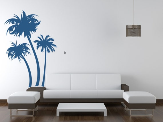 Palm Tree Wall Decal, Tree Wall Decal, Beach Decor, Beach Wall Art, Beach Wedding Decor, Beach Wall Decal, Tropical Wall Decal, Tropical Art