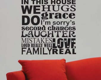 In This House We Do Quote, Vinyl Wall Lettering, Vinyl Wall Decals, Vinyl Decals, Vinyl Letters, Wall Quotes, Family and Home Quote