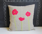 Bright poppies pillow cover