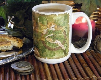 Celtic Oak Fairy 15 oz coffee mug
