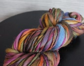 Trout Waters-  Hand Dyed Handspun Thick and Thin Bulky Yarn