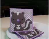 Stinkin Cute Skunk- Mini Cards Blank Cards Thank you cards (Set of 4)