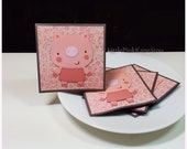 Precious Piggie-  Pig Piglet Mini Cards Thank you Cards ( Set of 4)