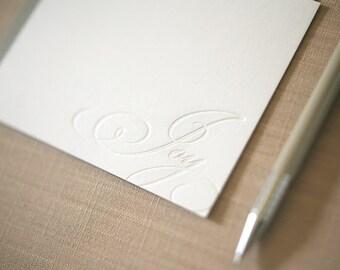 Personalized Letterpress Stationery - Joy Letterpress Notes