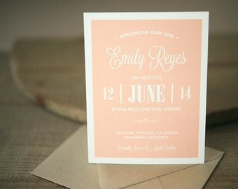 Baby Announcement - Emily Custom Birth Announcement