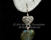 Sterling Silver & Labradorite Celtic Hearts  Earrings,Mother's Day Gift for her.