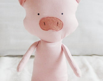 Pig Sewing Pattern Piglet Softie Plush Toy Cloth Doll Pattern PDF