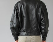 Hooded Black Leather Jacket