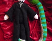 Voldemort doll knitting pattern and Nagini Harry Potter