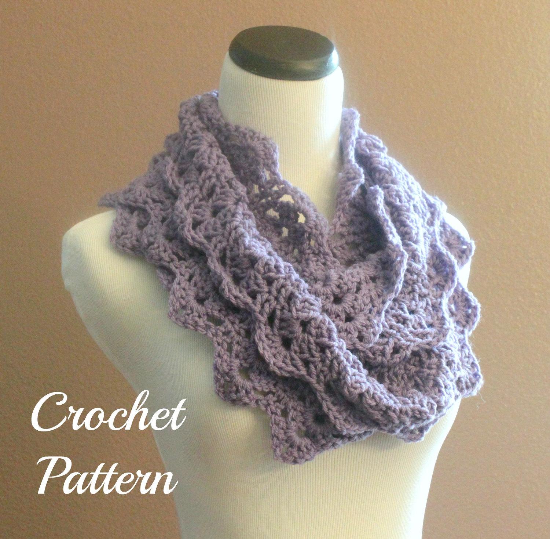 Crochet Infinity Scarf Chunky Pattern : Crochet PATTERN PDF Chunky Crochet Infinity Scarf by OnTheHook
