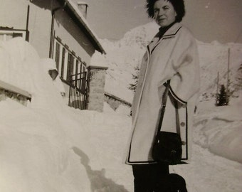 Vintage Winter Photo - Woman in the Snow