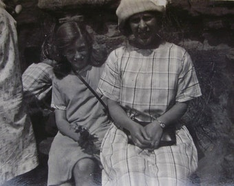 Vintage Summer Photograph - Mother and Daughter