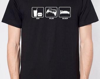 Holiday Gift Video Game Eat Play Sleep MENS T shirt Christmas gifts Husband Gift Xmas Gift T Shirt Cool Shirt Graphic Tee