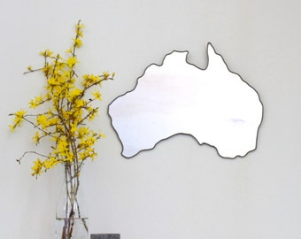 Australia Mirror Wall Mirror Country Outline Silhouette Shape Outline AU Miroir
