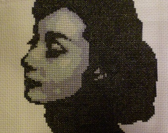 Audrey Hepburn Iconic-PDF Cross Stitch Pattern