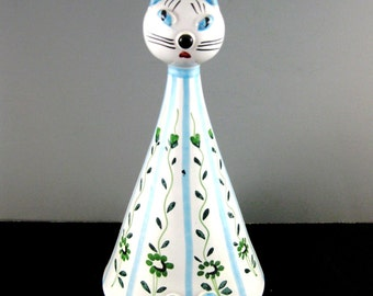 Italian Porcelain Cat Bank 1960's Beautiful Mint Condition