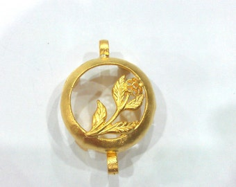 Gold Plated Brass Bezels , Mountings 25 mm G377