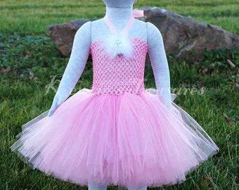 4-Piece Ballerina Tutu Dress And Headband Clip Set - Size NB to 24 Months - Can Be Worn Different Ways