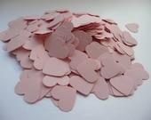 Wedding confetti hearts - Pink Paper hearts - die cut hearts - paper heart confetti - wedding table scatters