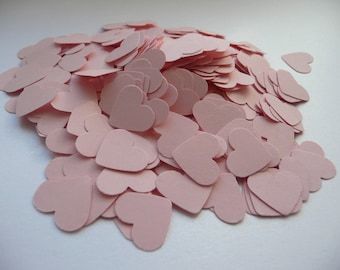 Wedding confetti hearts - Pink Paper hearts - die cut hearts - paper heart confetti - wedding table scatters