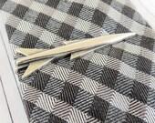 Rocket Tie Clip- Jet Tie Bar- Sterling Silver Finish or Antique Brass- Jet