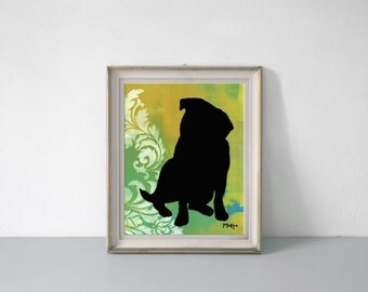 Pug Art Print, Wall Decor, 11 x 14 inches