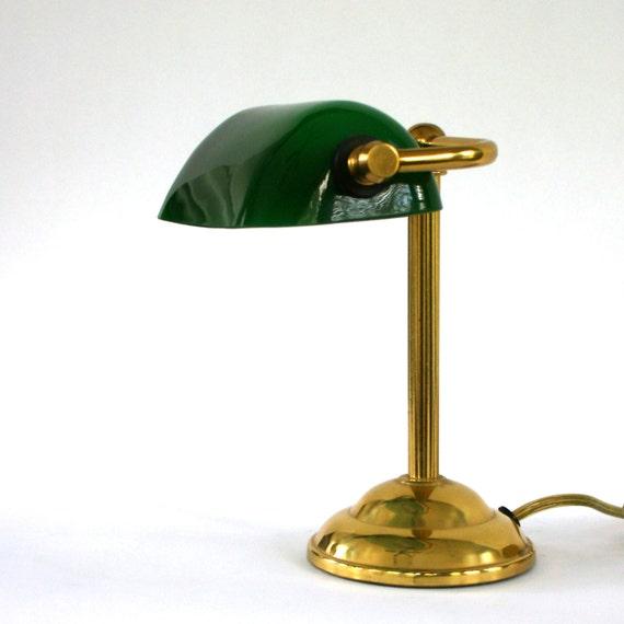 Vintage Modern Bankers Lamp Task Desk Light Brass by