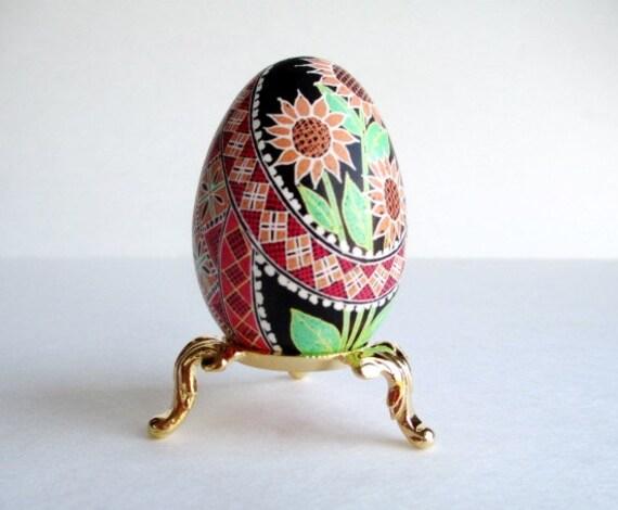 custom order Pysanka, Ukrainian Easter egg, chicken egg shell hand painted batik style