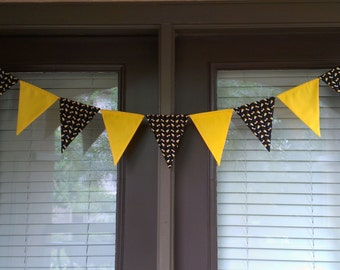 Not So Spooky Halloween Candy Fabric Banner Bunting Pennant Flags Reusable Party Decorations by InYourBones
