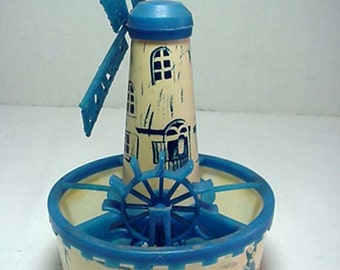 Plastic Holland Miniature Windmill 1950s Home and Garden Decor Planters