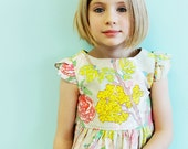 Girls Spring Easter Dress- Garden Party Tulip Sleeve Dress - LottieDaBaby