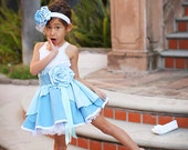 Cinderella inspired Dress Up Costume Apron, Half Apron, Blue Gown Style....Made to Order