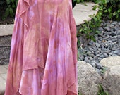 """Springtime Tie Dyed Two Layered Staggered Hem Gauze Skirt Ready to Ship Waist Size 30"""" to 32"""""""
