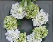 Spring/Summer Wreath - Spring/Summer Hydrangea Wreath - Spring/Summer Door Wreath