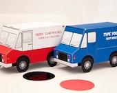 Delivery Truck Favor Box - DIY Printable PDF