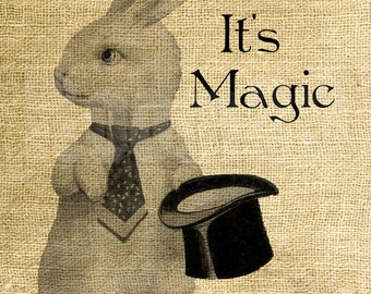 Instant Download - It's Magic Rabbit - Download and Print - Image Transfer - Digital Sheet by Room29 - Sheet no. 849