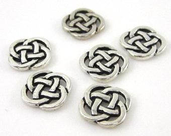 20 Silver Tierracast Celtic Open Knot Links