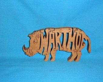 Warthog Handmade Scroll Saw Wooden Puzzle