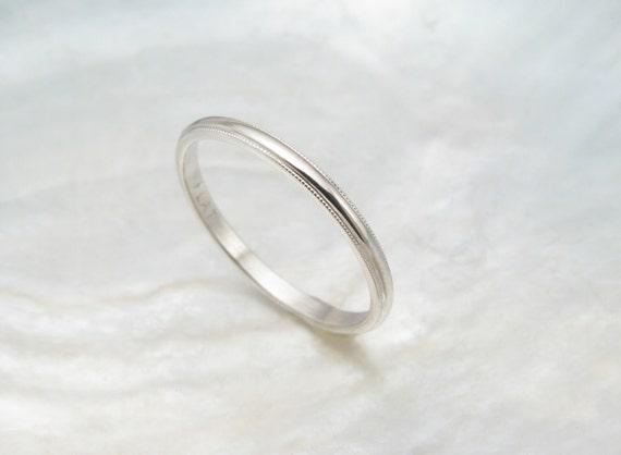 dainty wedding ring women 39 s platinum wedding band by ravensrefuge. Black Bedroom Furniture Sets. Home Design Ideas