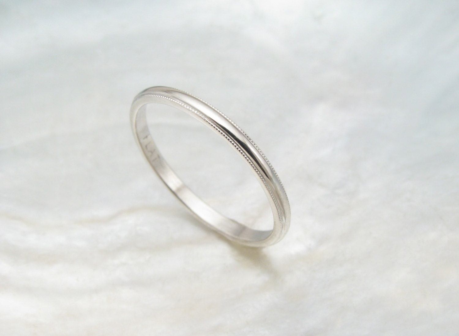 dainty wedding ring women 39 s platinum wedding band by ravensrefuge